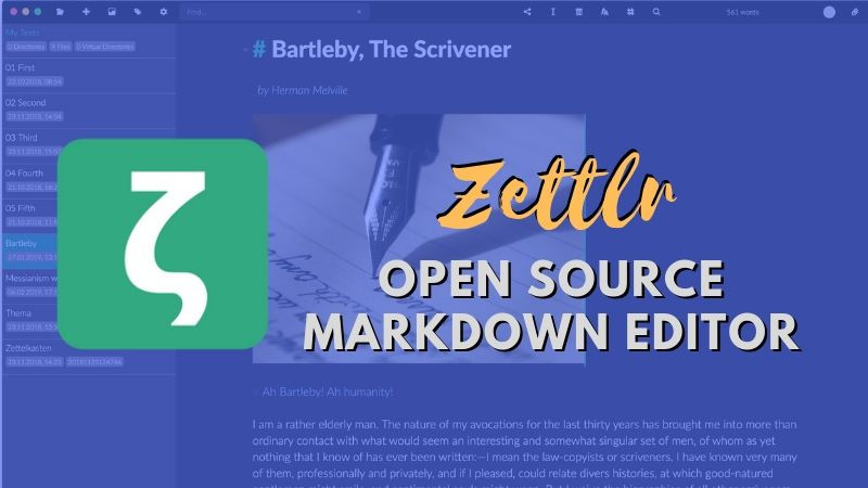 Zettlr - Markdown Editor for Writers and Researchers