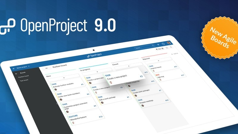 Free and Open Source Trello Alternative OpenProject 9 Released